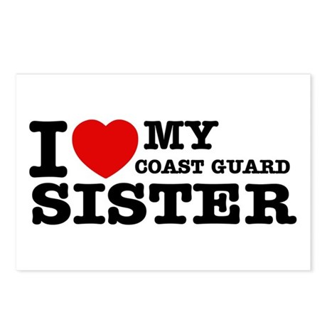 I love My Coast Guard Sister Postcards (Package of