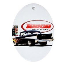 57 Chevy Dragster Ornament (Oval)