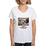 support the Schubot Center Women's V-Neck T-Shirt