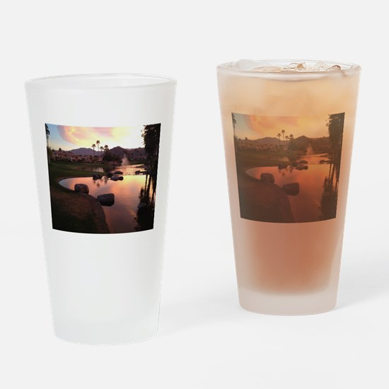 Scarlet Reflections Drinking Glass