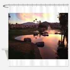 Scarlet Reflections Shower Curtain