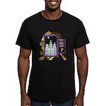 Mormon Tetris Men's Fitted T-Shirt (dark)