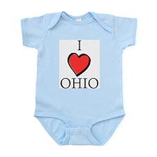 I Love Ohio Infant Creeper