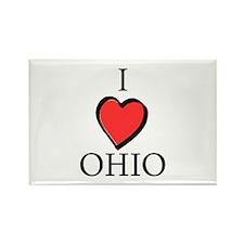 I Love Ohio Rectangle Magnet