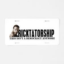 Ricktatorship Aluminum License Plate