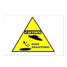 Caution! Alien Abduction! Postcards (Package of 8)