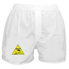 Caution! Alien Abduction! Boxer Shorts