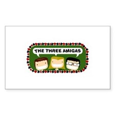 Three Amigas Rectangle Decal
