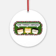 Three Amigas Ornament (Round)