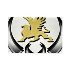 Gold Griffin Rectangle Magnet