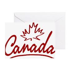 Canada Leaf Script Greeting Card