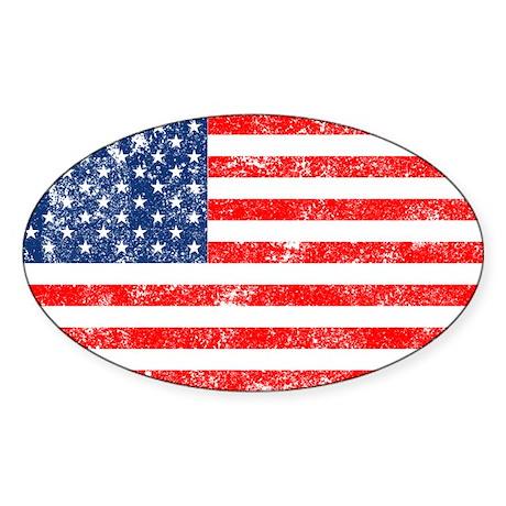 US Flag Sticker (Oval 10 pk)
