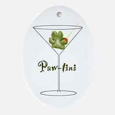 Paw-tini Oval Ornament