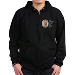 Dogs Make Lives Whole -Dachshund Zip Hoodie (dark)