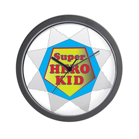 Super Hero Kid Wall Clock