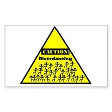 Caution! Riverdancing! Decal