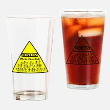 Caution! Riverdancing! Drinking Glass
