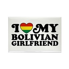 I Love My Bolivian Girlfriend Rectangle Magnet