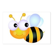 Cute Cartoon Bumble Bee Postcards (Package of 8)