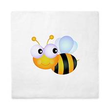 Cute Cartoon Bumble Bee Queen Duvet