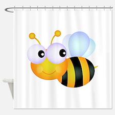 Cute Cartoon Bumble Bee Shower Curtain