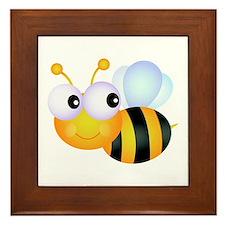 Cute Cartoon Bumble Bee Framed Tile