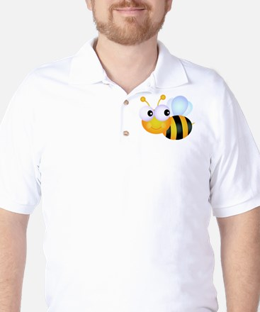 Cute Cartoon Bumble Bee Golf Shirt