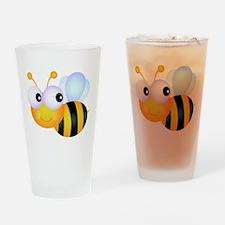 Cute Cartoon Bumble Bee Drinking Glass