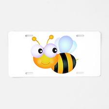 Cute Cartoon Bumble Bee Aluminum License Plate