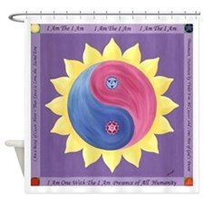 Violet Fire Shower Curtain