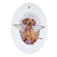 Dachshund Angel Ornament (Oval)