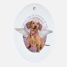 Dachshund Angel Ornament (Oval)