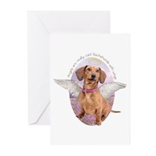 Dachshund Angel Greeting Cards (Pk of 10)