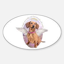 Dachshund Angel Sticker (Oval)