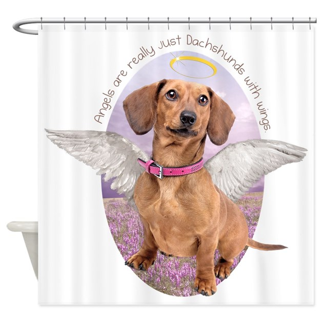 Dachshund Angel Shower Curtain by daecugifts