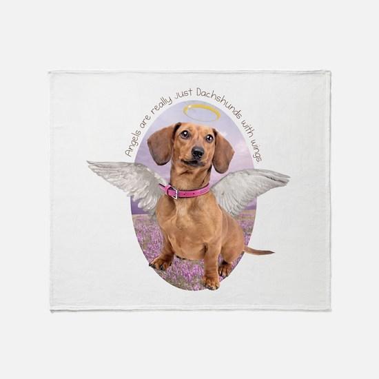 Dachshund Angel Throw Blanket