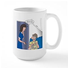 Airline Seatbelt Issues Large Mug