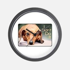 """I Didn't Do It"" Dachshund Wall Clock"