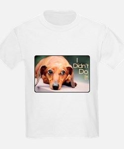 """I Didn't Do It"" Dachshund T-Shirt"