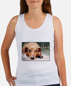 """I Didn't Do It"" Dachshund Women's Tank Top"