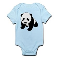 Baby Panda Cub Crawling Onesie