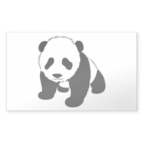 Baby Panda Cub Crawling Sticker (Rectangle)