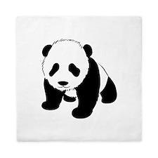 Baby Panda Cub Crawling Queen Duvet
