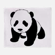 Baby Panda Cub Crawling Throw Blanket