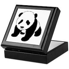 Baby Panda Cub Crawling Keepsake Box