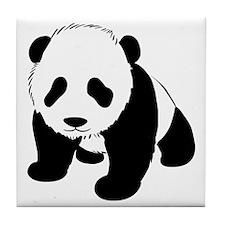 Baby Panda Cub Crawling Tile Coaster
