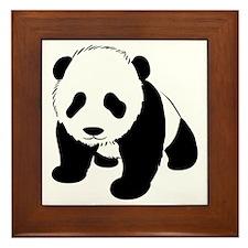 Baby Panda Cub Crawling Framed Tile