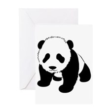 Baby Panda Cub Crawling Greeting Card