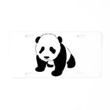 Baby Panda Cub Crawling Aluminum License Plate