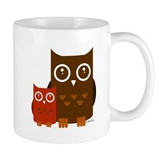 Cute Owls Small Mugs